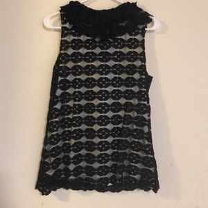 Dress Barn Tops - DRESS BRAND black and bronze blouse,